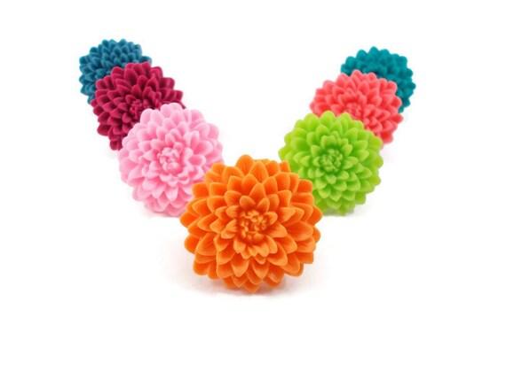 Bright Orange Flower Ring, Easter Basket Filler for Teen Girl, Fun Rings for Tween Girls, Adjustable Ring, Gifts Under 5, Tween Jewelry
