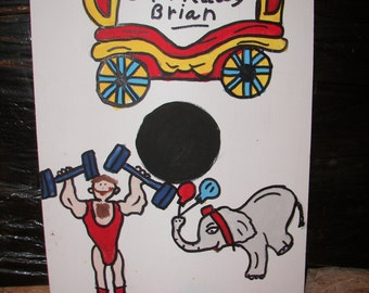 New  wagon  with  strong  man     circus  games with   4  bean bags