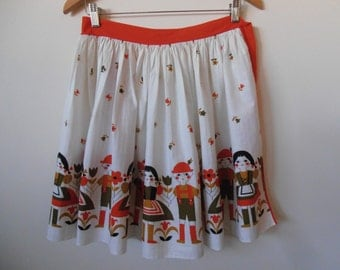 little folk...1950s vintage apron