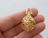 1 Wish box pendant gold tone GC47