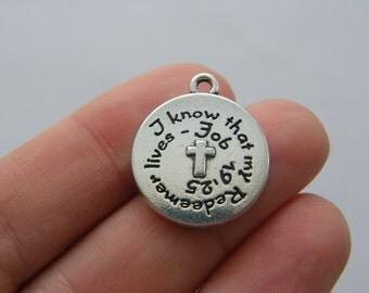 2 I know that my Redeemer lives antique silver tone R96