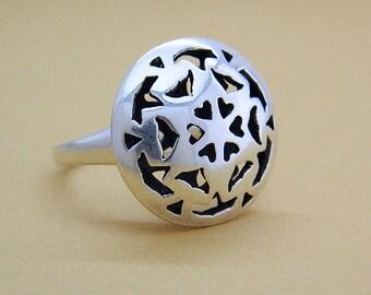 Snowflake Star Ring