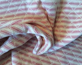 RED And WHITE Cotton TICKING Stripe Quilted Cotton Upholstery Fabric, 20-05-13-0315