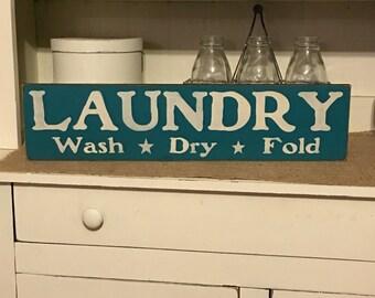 Farmhouse Decor,Primitive Sign, Laundry Sign,Rustic Decor,Laundry Room Decor, Wood Sign, Country Decor,Rustic Farmhouse Decor,Rustic Decor