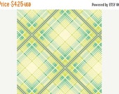 SuperBowl Sale Up Parasol, from Heather Bailey and FreeSpirit/Westminster fabrics, Summer Plaid Turquoise, 1/2 yard total