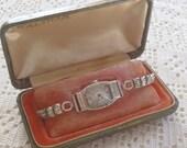 Vintage Waltham Wristwatch Gold Filled Original Box Needs Repair