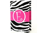 Zebra Monogrammed Journal Diary, Personalized sketchbook, Mothers Day, Travel journal, Notebook, Teacher gift, Personalized journal, Gift