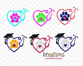 Vet Tech Vinyl Decal - size, and color of your choice!