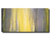 Original Large Abstract painting - 24 X 48 - Artist JMJartstudio-Fading Away-Wall art-wall decor -Gray painting-Oil painting
