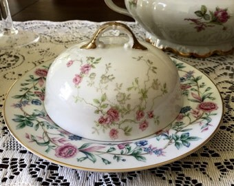 Vintage China Butter Dish for Tea Parties, Bridal Luncheons, Showers