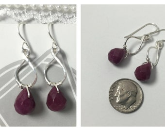 Sterling silver and ruby jade