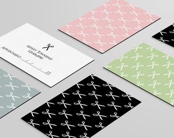 Hair Stylist Business Card: Customizable Download File - Four Color Options