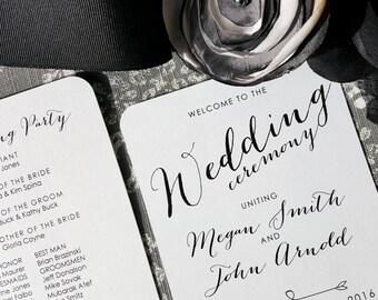 Printable Wedding Programs - Style P59 - BOMBSHELL COLLECTION