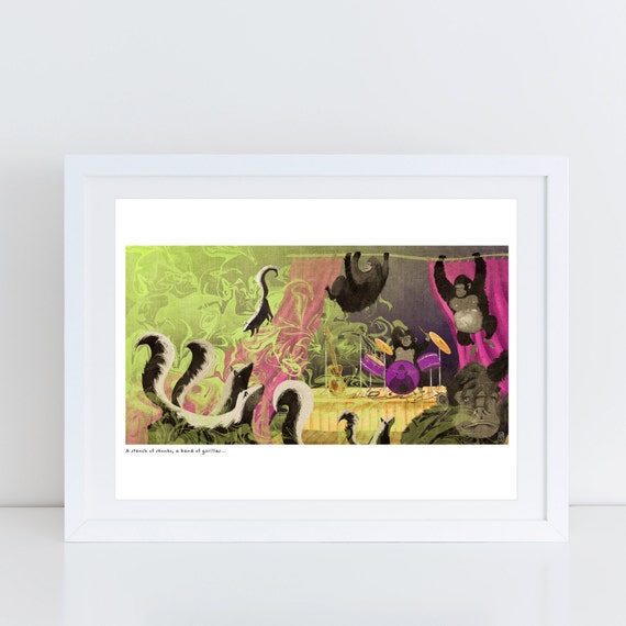 An Ambush of Tigers! (A Stench of Skunks) - Signed Print from An Ambush of Tigers book