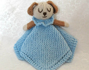 Lovey Security Blanket, Boy Comfort Blanket, Baby Boy Lovey Blanket, Puppy Dog Baby Blanket, Little Baby Cuddle Blanket