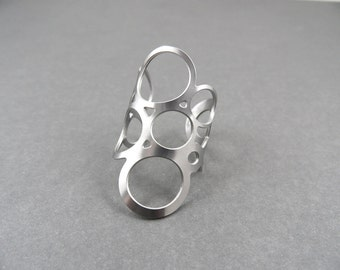 circle ring, circle jewelry, stainless steel