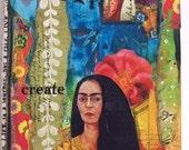 MESSY Art JOURNAL Mixed Media Art Journal, blank Journal, FRIDA, Create