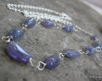 Sterling Silver Tanzanite Gemstone Necklace