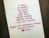 Anniversary Husband Handkerchief 2nd Anniversary Gift Cotton Anniversary Gift Embroidered Hankerchief