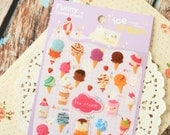 ICE CREAM Food Collection deco puffy stickers