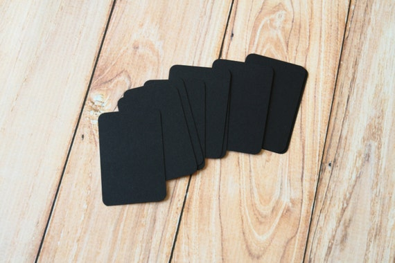 50pc BLACK Eco Series Business Card Blanks