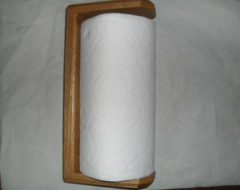 Paper Towel Holder Wall mounted in Oak
