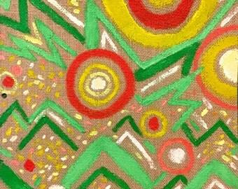 Meditations on Burlap #1 - original painting by Katie Jurkiewicz