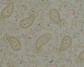 25 Off Sale EVENING MIST paisleys quilt fabric Moda French country shabby prairie style grey taupe purple 1 yard 32225-23