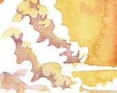 Seascape Sunset - Landscape Study - Original Watercolor Painting