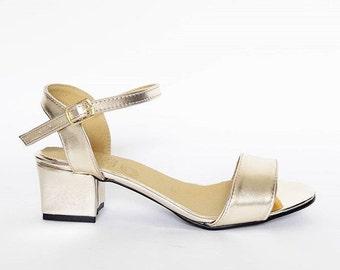 June Heeled Vegan Sandals (Handmade to order)