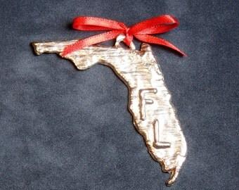 Pewter Florida Ornament
