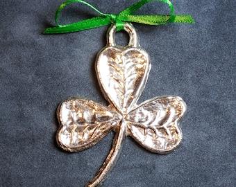 Shamrock pewter ornament