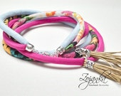 Tassel Necklace, bib tassel necklace, colorful necklace, long tassel necklace, summer accessories, gift ideas, handmade necklace