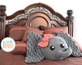 CROCHET PATTERN Josefina and Jeffery Elephant Pillow PDF Crochet Pattern with Instant Download