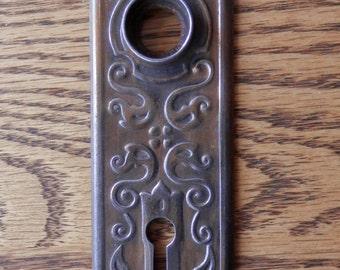 1 one antique decorated victorian door plate