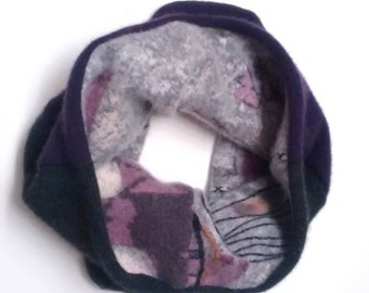 Cozy Cashmere Cowl, reversible, TWO FOR 40 dollars, use coupon code: NECKSALE, purple, gift, womens