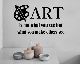 Art Quote, Artist Decal, Vinyl Wall Lettering, Vinyl Wall Decals, Vinyl Letters, Vinyl Lettering, Wall Quotes, Paint Palette Decal