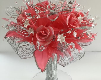 Quinceanera or Wedding Bouquet with free shipping