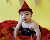 Prince Hat - Handmade, Woodsman, Maroon Red, Felt, Little Boys, Dress Up, Costume, Pretend Play