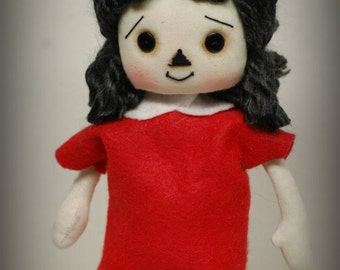 Little LULU inspired by, cloth art rag doll  girl collectible Gift Collectible OOAK handmade
