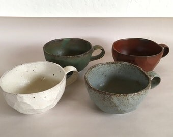 Vintage Japanese MIYA Cups Boulder Mugs