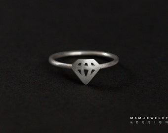 Sterling Silver Little Diamond Ring