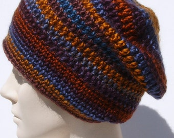 Slouch Hat,Colorful Slouch Beanie,Crochet Beanie,Crochet Slouch Hat,Woman's Slouch,Men's Slouch