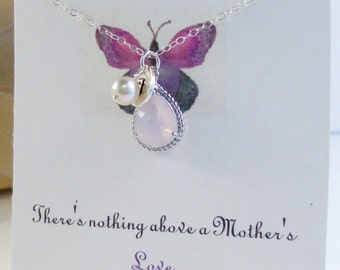 Mother's Day Necklace,Moonstone Necklace,Mothers Day Necklace,Pink Necklace,Moonstone Jewelry,Moonstone Pendant,Initial Necklace,Letter