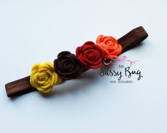 Felt Flower Crown Fall Flowers
