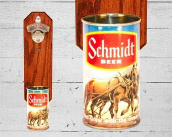 Schlitz Malt Liquor Wall Mounted Bottle Opener With By