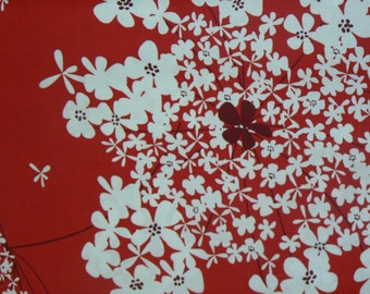 Wild Carrot Cotton Fabric in Red by Michael Miller - 1 Yard