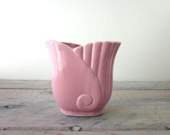 Vintage Pink Art Deco Vase