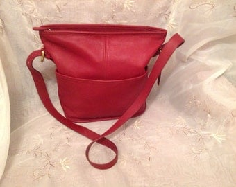 Vintage Coach Red Bleeker Bag 4153 Shoulderbag
