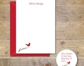Cardinals, Cardinal, Thank You Notes, Cardinal Note Cards, Mother's Day, Cardinals, Personalized Notes, Stationery,  Bird Note Cards